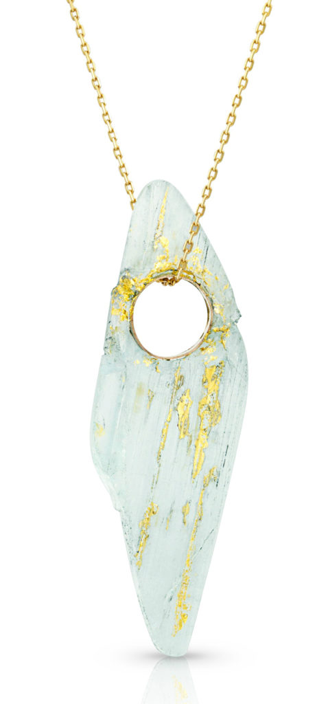 An incredible aquamarine pendant by Enij Studio! At The Jewelry Showcase.
