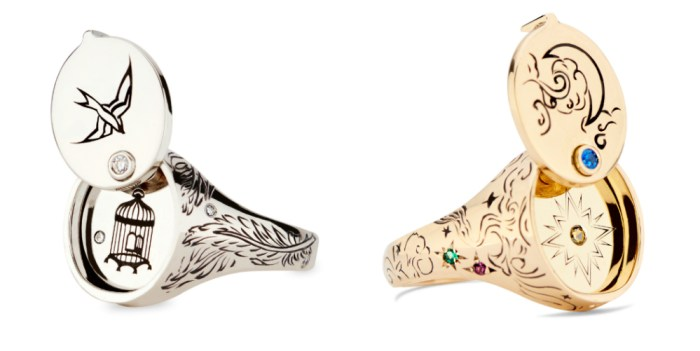 I love these opening signet rings by DRU Jewelry! From the Jewelry Showcase.