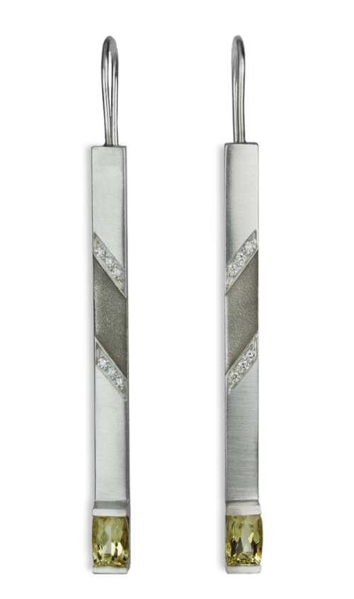 I love these silver Matchstick earrings by Nataly Aponte.