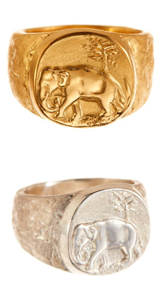 I love this elephant signet ring by Andrea Gutierrez! Available at The Jewelry Showcase.