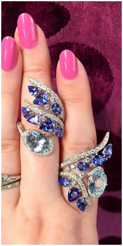 Two stunning aquamarine and tanzanite rings by Italian jewelry brand Casato!