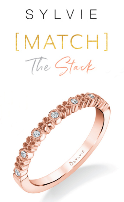 Enter to WIN a free diamond stacking ring from Sylvie Collection!! I love this rose gold one. #MatchTheStack