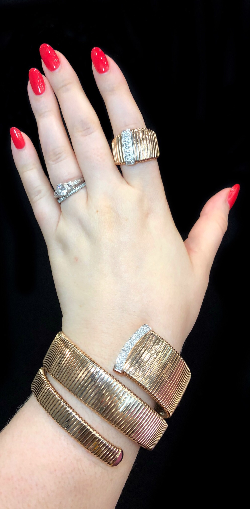 Gold and diamond jewels by K di Kuore! Spotted at the Italian Pavilion at JIS Miami.