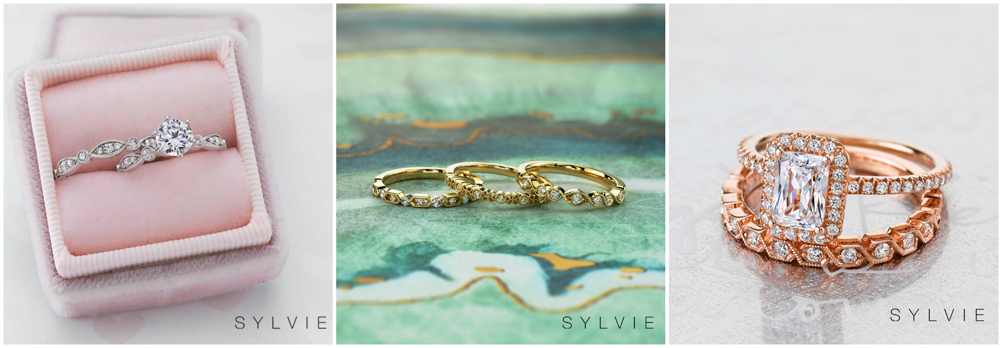 Sylvie Collection has been making award winning engagement rings and wedding bands for more than 30 years. Enter to win a stacking band!