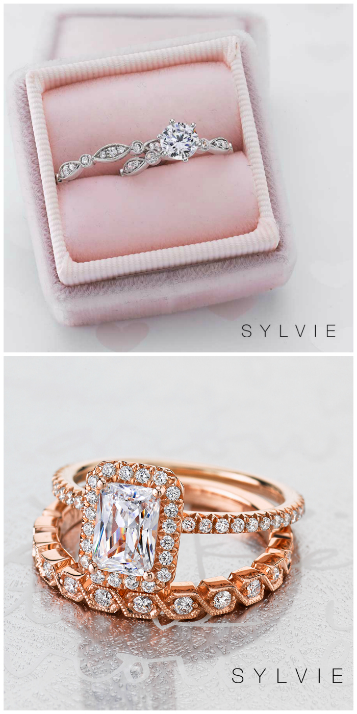 Sylvie Collection has created over 2,000 different engagement ring designs, with over 100 wedding bands to match!