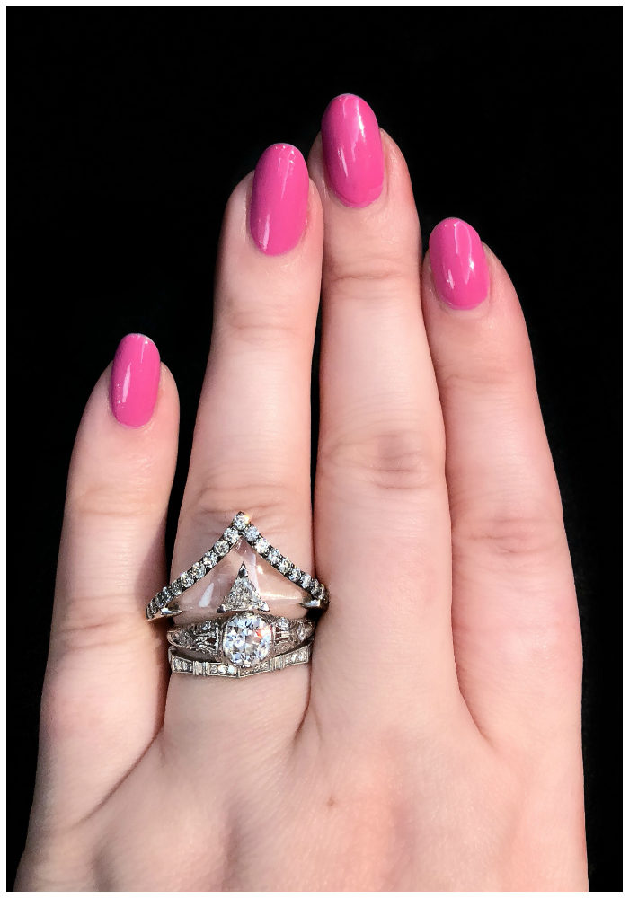 The coolest ring!! Rock crystal and diamonds, by jewelry designer Bia Tambelli