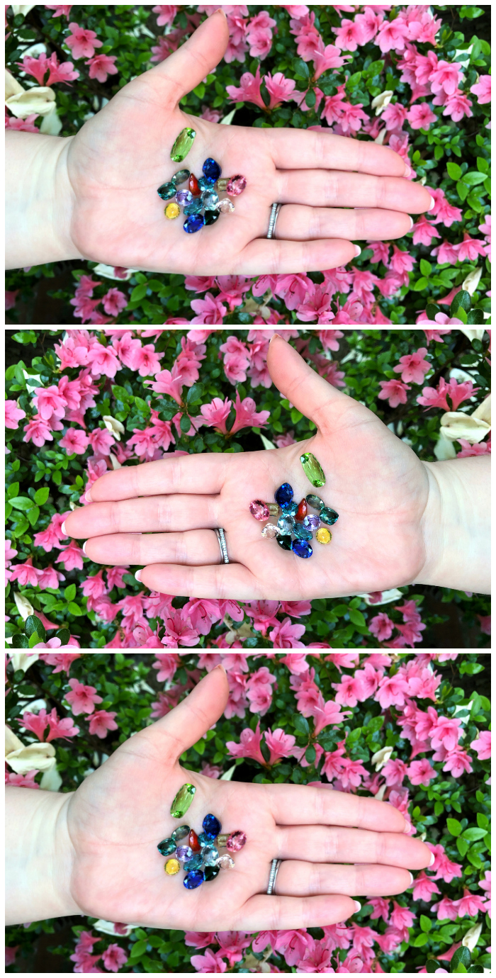 A hand full of colored gemstones from Kimberly Collins Gems! The beauty of nature.