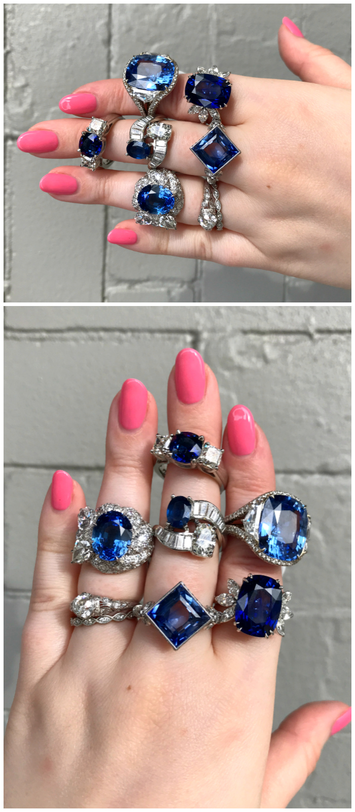 A handful of truly exceptional sapphire and diamond rings from Joden. Some vintage, some signed, all spectacular!