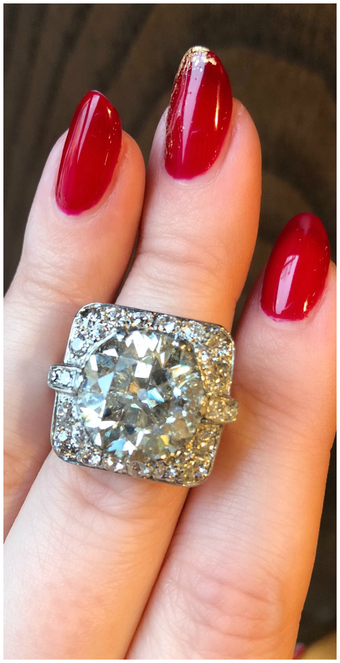 A huge and beautiful Art Deco diamond ring from Wilson's Estate Jewelry.