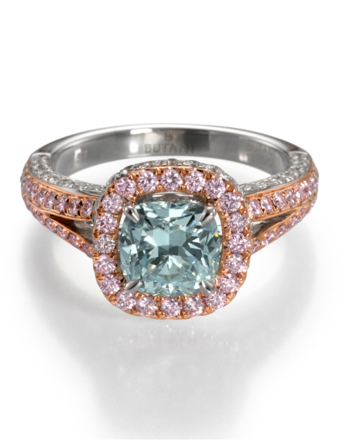 A stunning colored diamond engagement rings from Butani