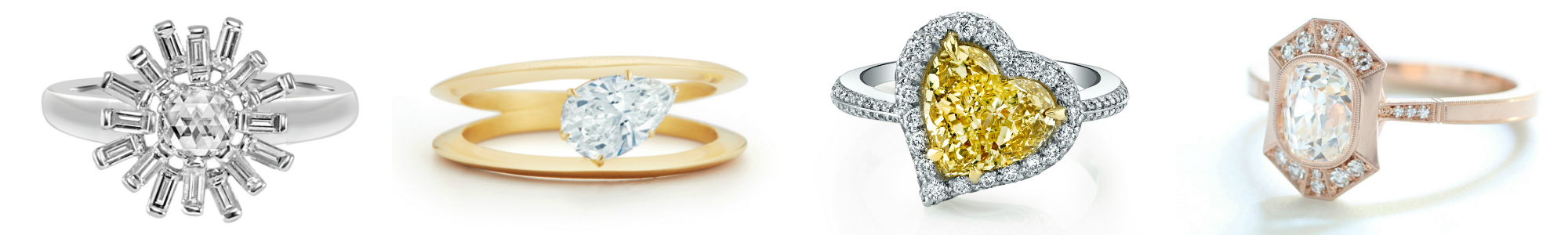 Beautiful modern engagement rings!!