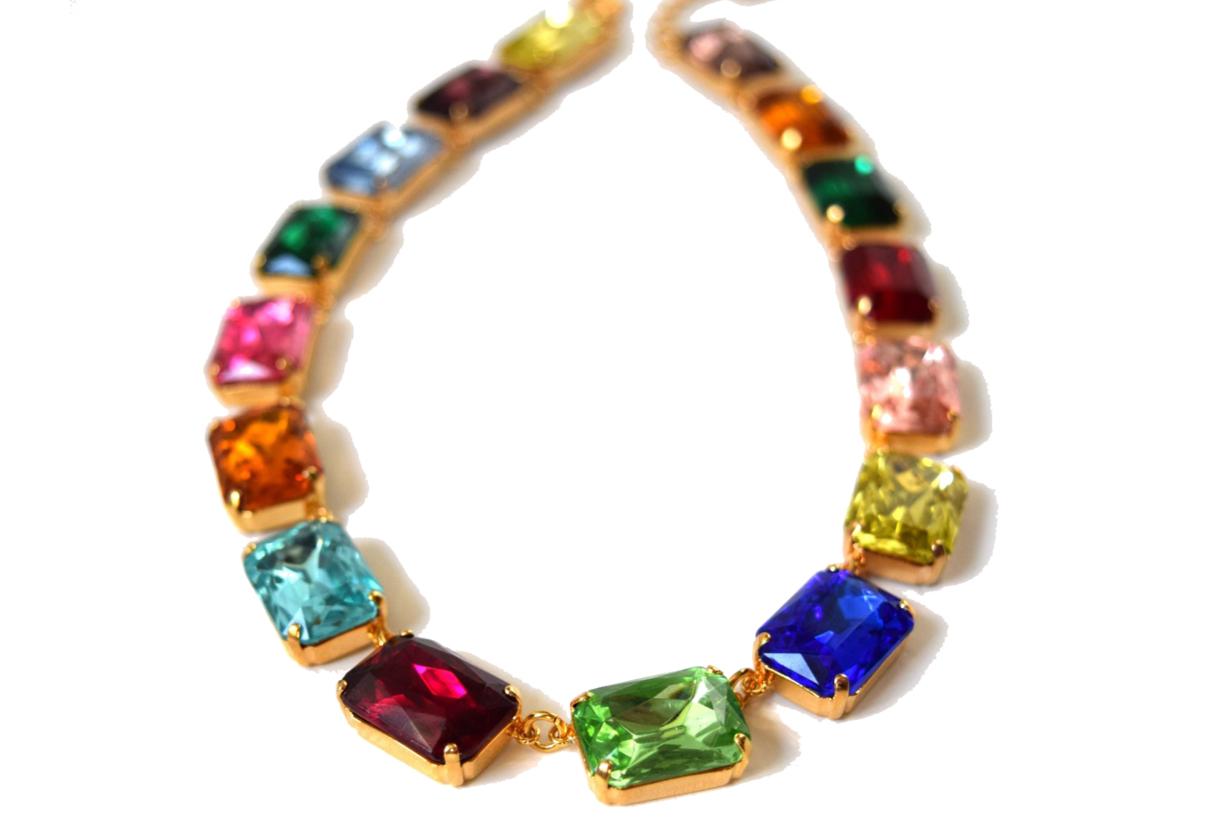 I love this rainbow necklace by Dames a la Mode! Perfect for holiday parties.