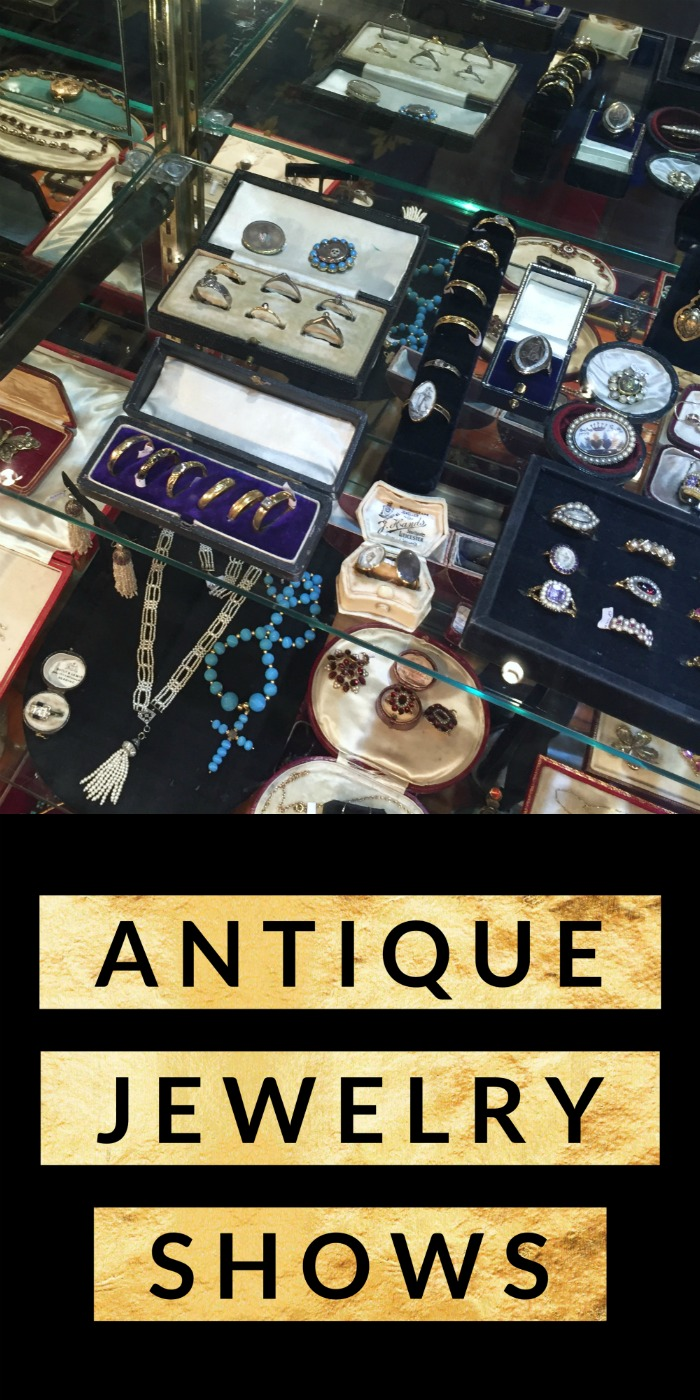 An introduction to antique jewelry shows - my top tips to have fun, find deals, and make the most of your next antique jewelry show!