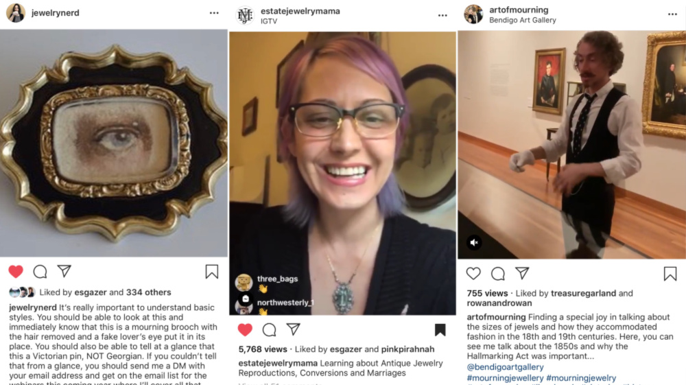 A few of the best Instagrams to follow if you want to learn more about antique jewelry!