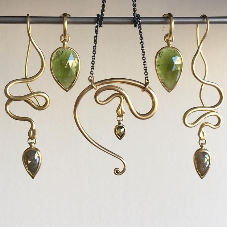 Shelley Cavanaugh snake jewels at Meeka Fine Jewelry.