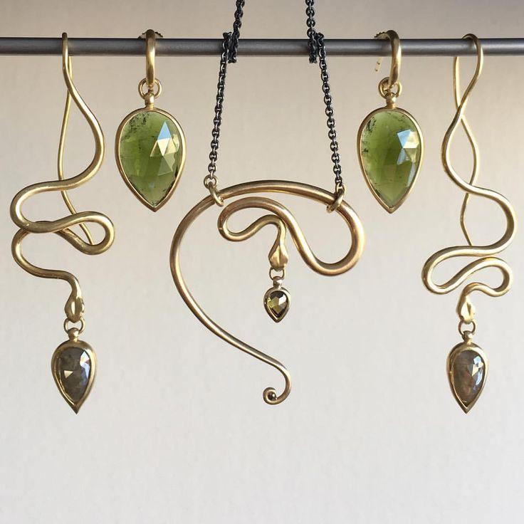 Shelley Cavanaugh snake jewels at Meeka Fine Jewelry.