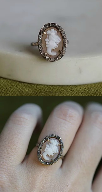 A beautiful vintage cameo ring.