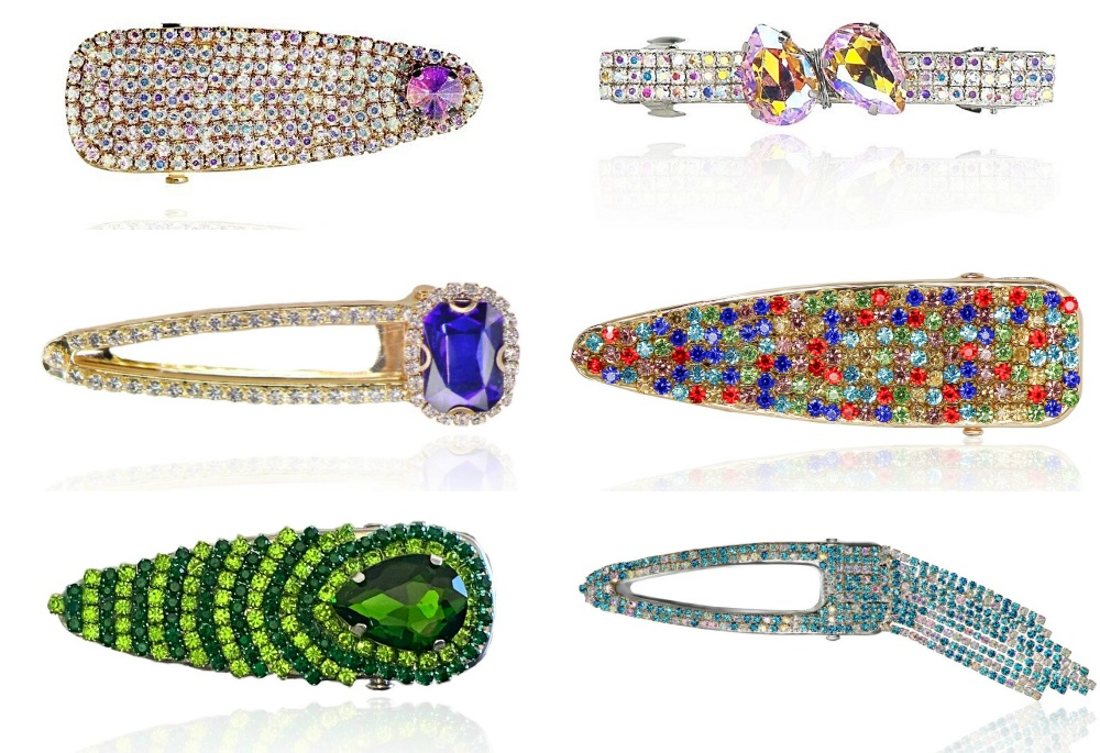 Beautiful sparkling hair clips from Heir Jewelz! .