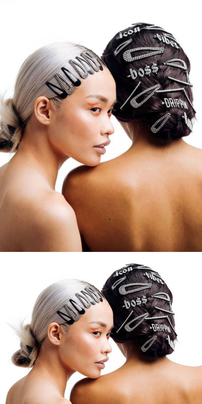 Two incredible jewel hair looks from Kitsch.