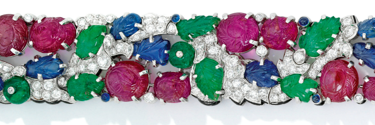 A Cartier Tutti Frutti dream bracelet.