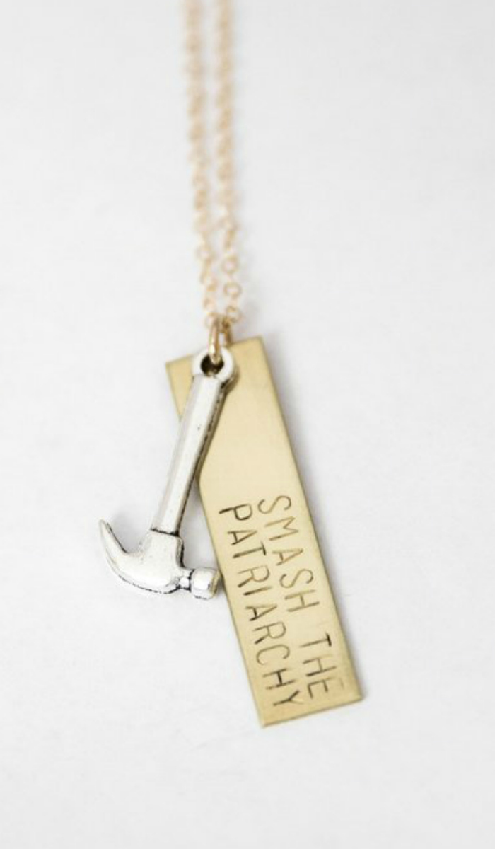 Smash the Patriarchy hammer necklace by Bang-Up Betty. So feminist and cute!