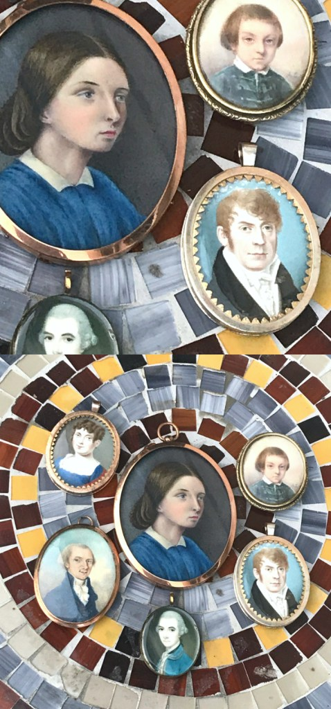 Beautiful antique portrait miniatures! Some of the treasures that will be offered during Dear to Memory, an online jewelry lecture series.