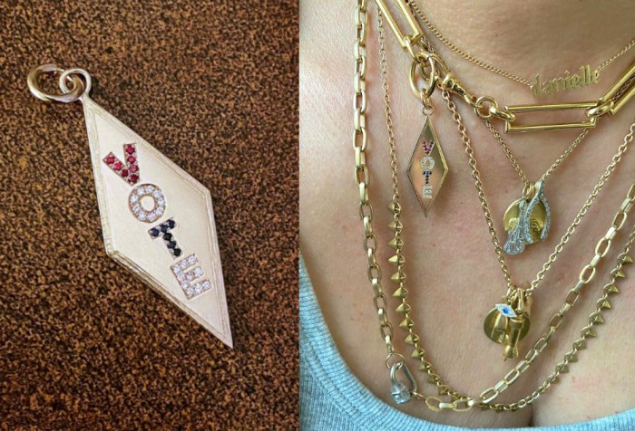 Vintage vote charm! From Mick Edwards, styled photo by Instagrammer Jasmyntea.