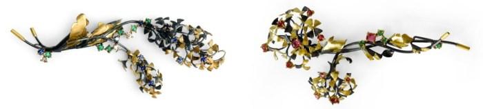 6SHADOWS beautiful botanical brooches!