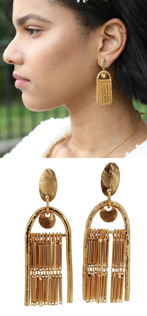 The Fringe Theory statement earrings by Lingua Nigra. So glamorous!