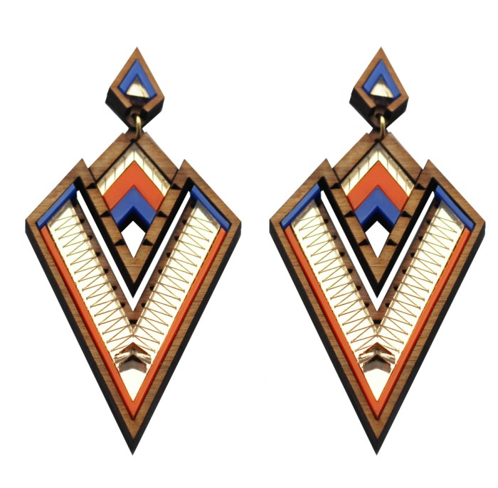 These incredible statement earrings from Chalk are made out of wood!