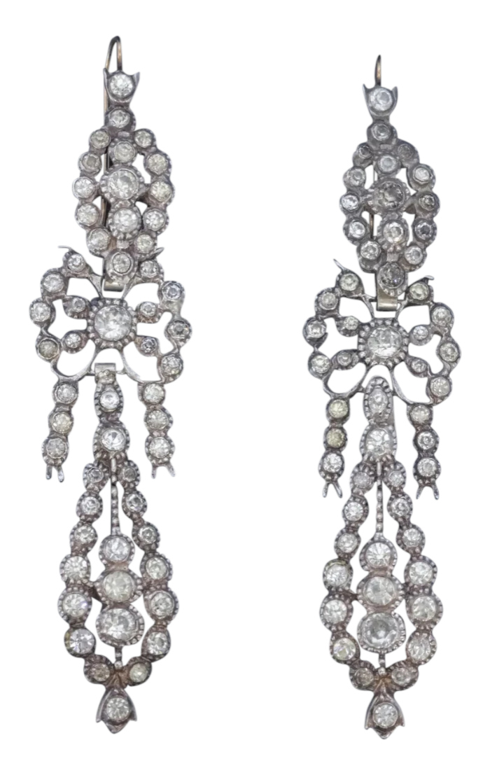 Antique French paste earrings, circa 1900. From Antique Jewellery Group on Ruby Lane.