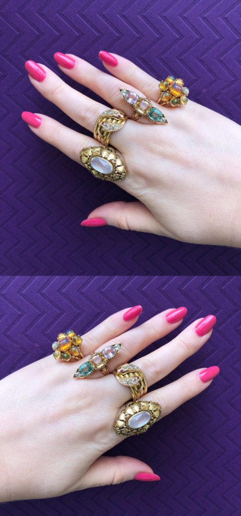Beautiful vintage and antique gold rings from Wilson's Estate Jewelry!