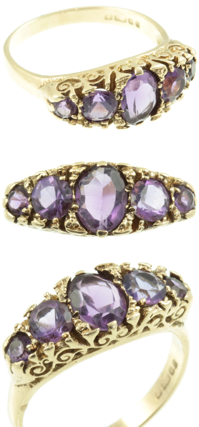 A beautiful amethyst ring in gold from Carus Jewellery.