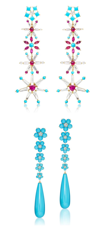 Flower earrings by Jane Taylor Jewelry.