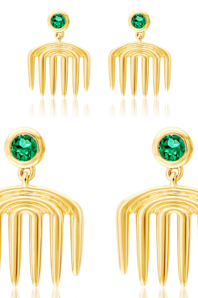 ALMASIKA earrings from Sotheby's Brilliant & Black, an exhibition of work by Black jewelers