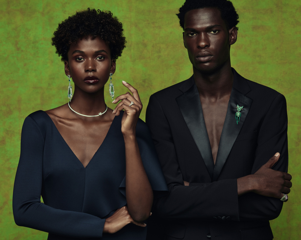 Sotheby's Brilliant & Black is an exhibition of work by Black jewelers. Image Courtesy of Menelik Puryear