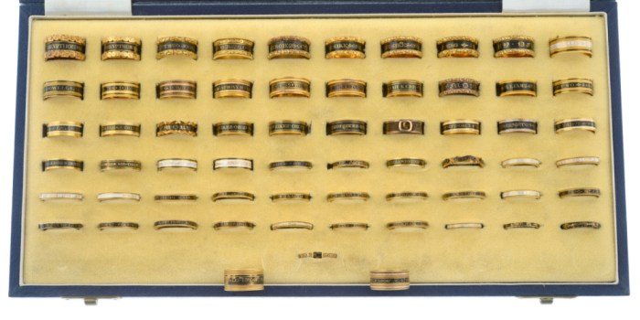 This incredible collection of mourning rings spans 100 years