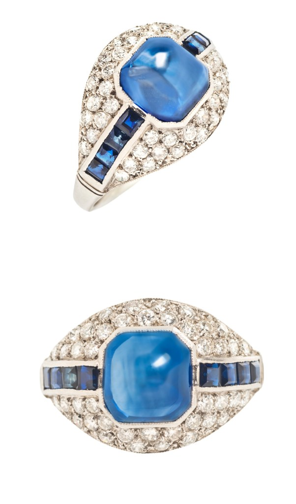 Art Deco sapphire and diamond ring from Tiina Smith.