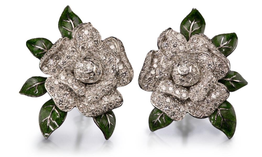 Oscar Heyman earrings from Tiina Smith