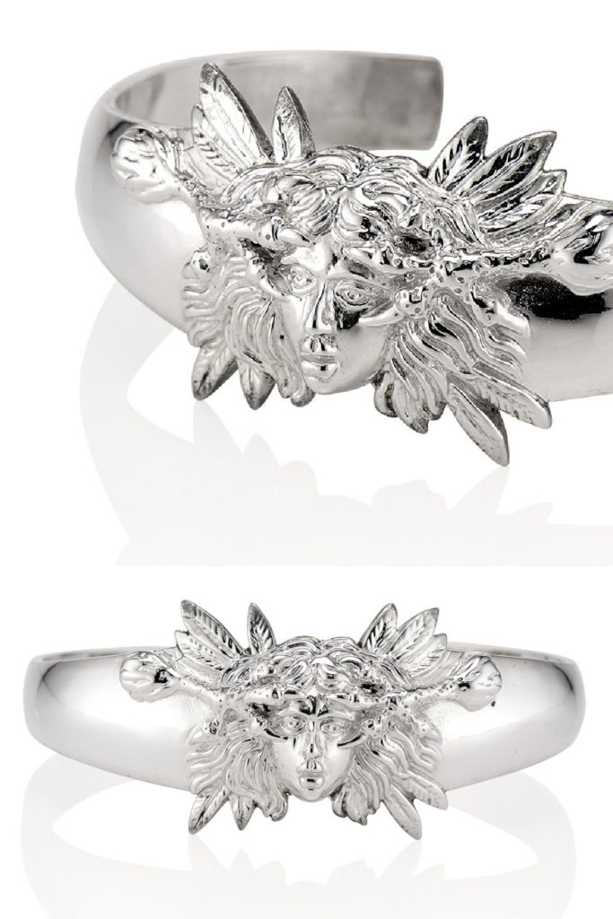 The Harpy cuff bracelet in silver from KIL NYC's Teras Collecton, which is inspired by monsters from Greek mythology.