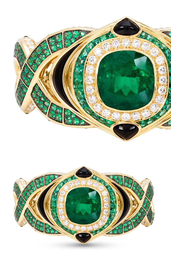 The Salvia emerald cuff bracelet by Marina B. Beautiful!