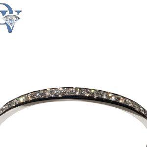 14 kt. white gold diamond bangle bracelet. 2.70 cts tdwt.