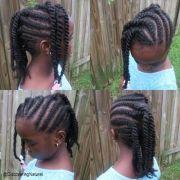 mohawk cornrow with bangs