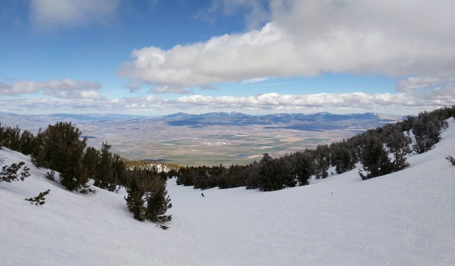 Heavenly ski resort with view of Nevada desert.