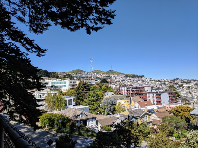 A view of San Francisco Twin Peaks.