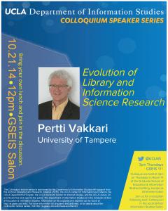 University of Tampere's Pertti Vakkari