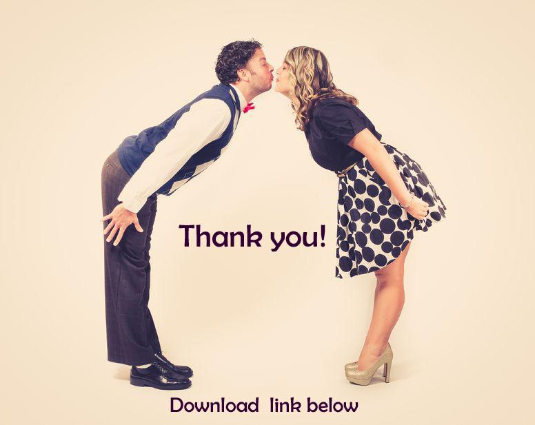 kissing coupl thank you e