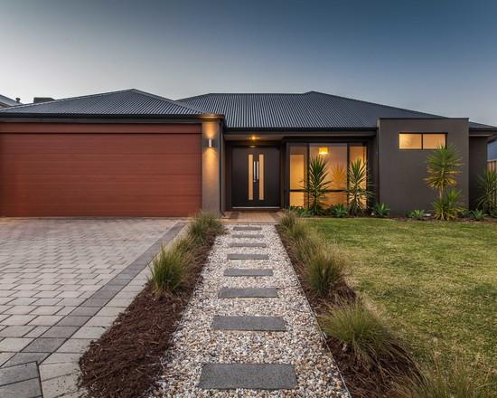 Fachadas de casa trrea  15 modelos de Modernas e bonitas