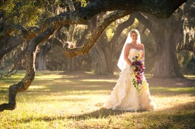 Boone Hall Plantation Bridal Portrait with Oak Trees (2)