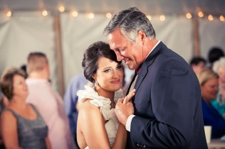 bride and father dancing at wedding reception